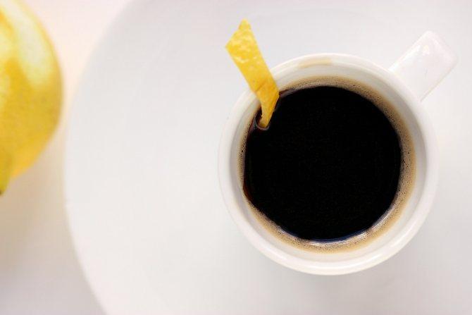 Культура потребления кофе с лимоном