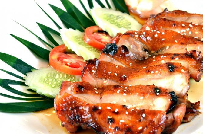 Куриное мясо в соусе терияки фото