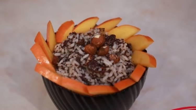 кутья из риса с вареньем