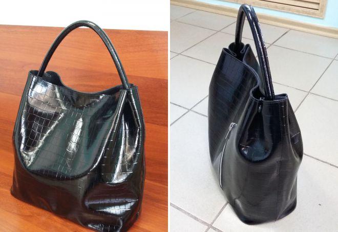 лаковая сумка мешок