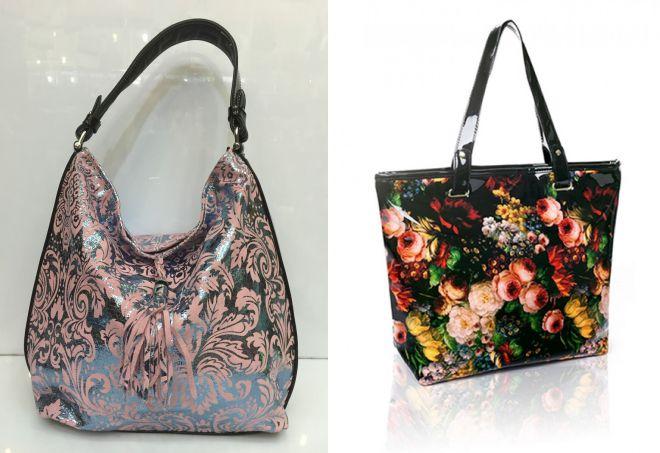 лаковые сумки с рисунком