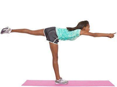 Ласточка упражнение