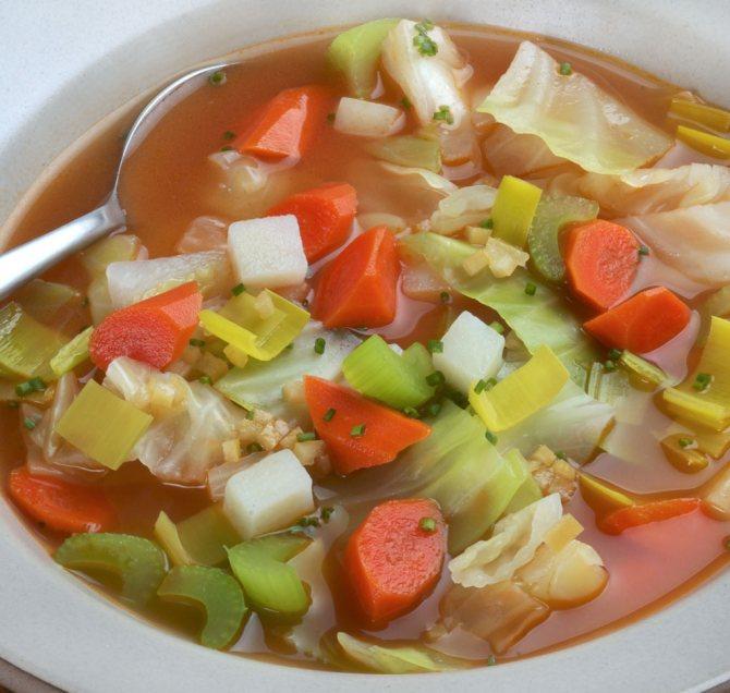 легкий овощной суп с китайской капустой