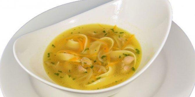 Легкий суп из филе курицы