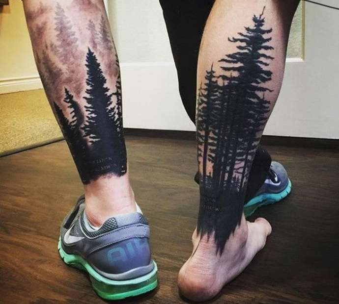 лес на голени у мужчины