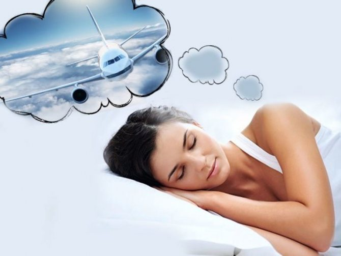 Лететь на самолете во сне