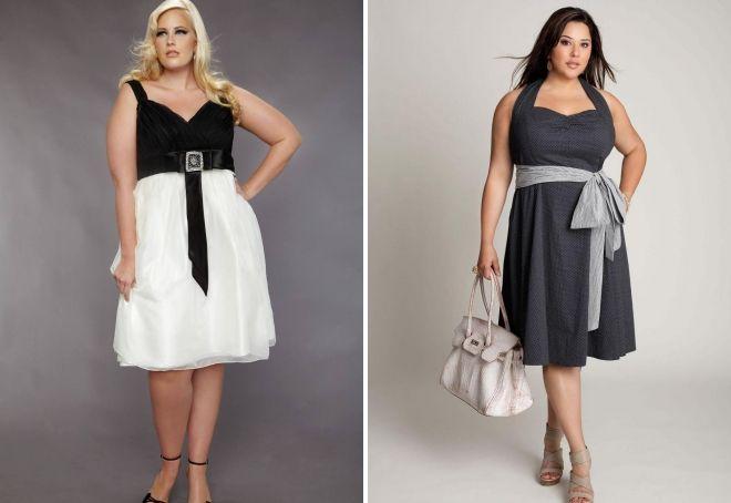 летние вечерние платья для полных девушек