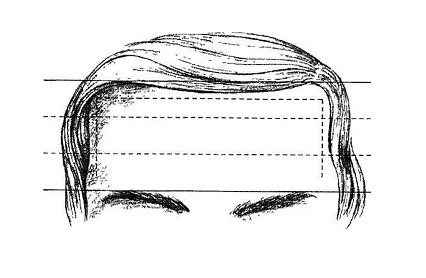 Лоб и линия роста волос по Сианг Мин