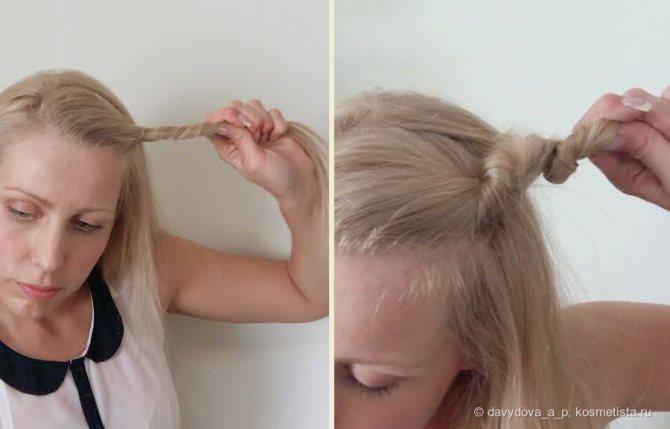 Локоны без вреда для волос: косички, жгут и щипцы