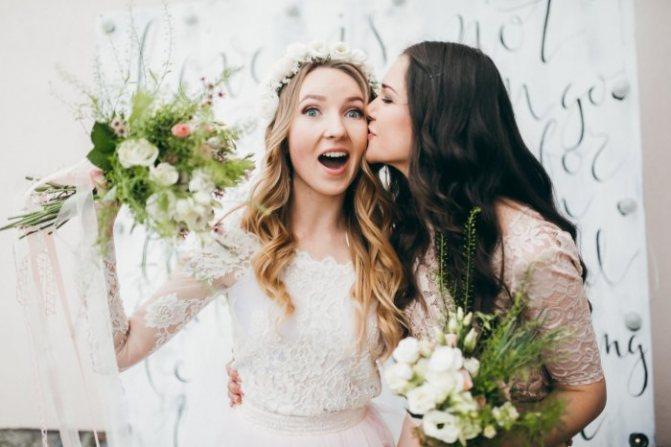 Лучшая подруга в роли свидетельницы на свадьбе