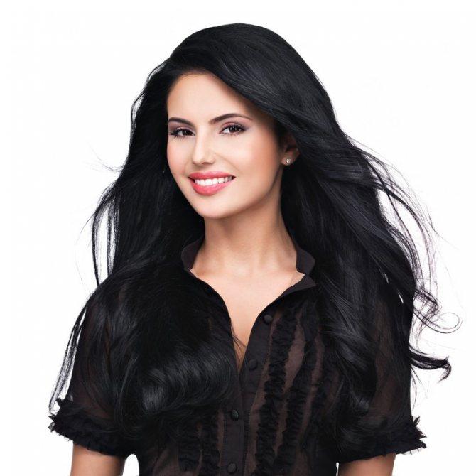 Лучшие чёрные краски для волос
