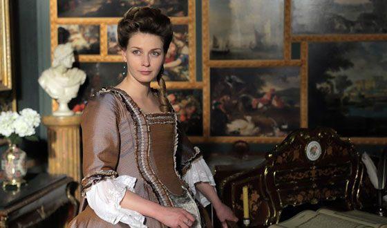 Любава Грешнова на съемках сериала «Екатерина. Взлет»