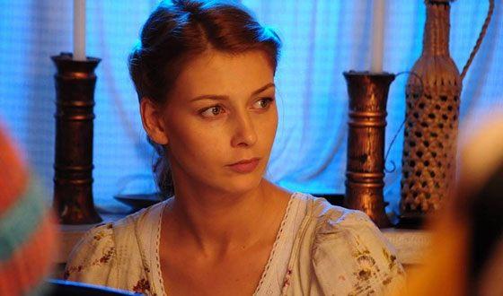 Любава Грешнова на съемках «Уйти, чтобы остаться»