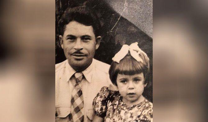 Любовь Успенская в детстве (на фото: с отцом)