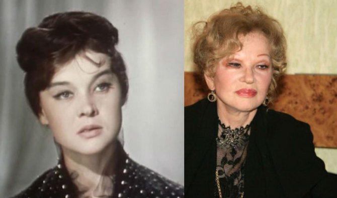 Людмила Гурченко в молодости и незадолго до смерти