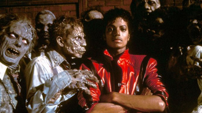 """Майкл Джексон и зомби. Клип """"Thriller""""."""