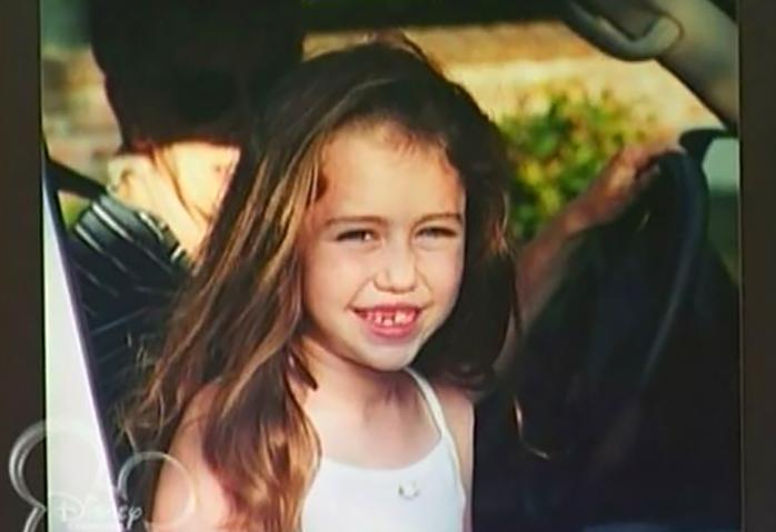 Майли Сайрус в детстве. Фото
