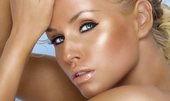 make up в бронзовых тонах