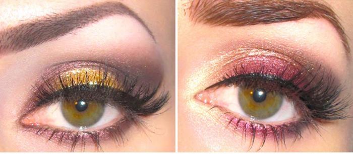 Макияж для болотного цвета глаз