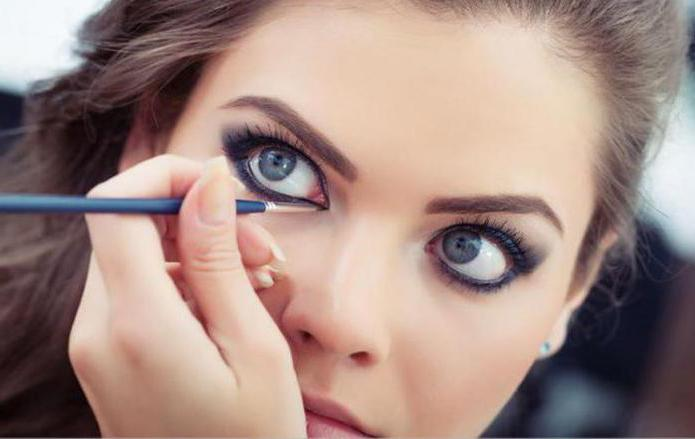 макияж для больших выпуклых глаз