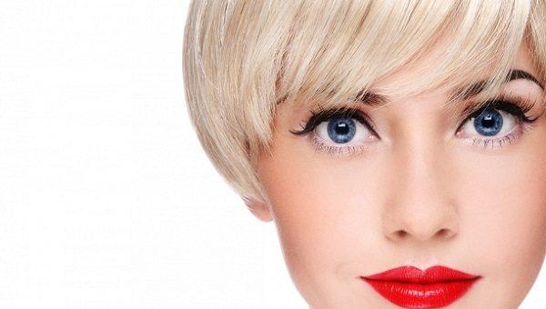 Макияж для голубоглахой блондинки
