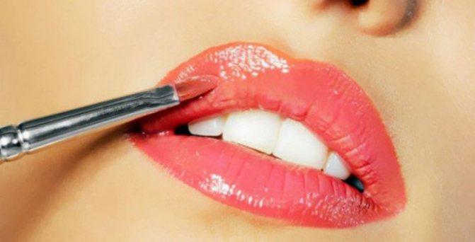 Макияж губ и правила нанесения губной помады