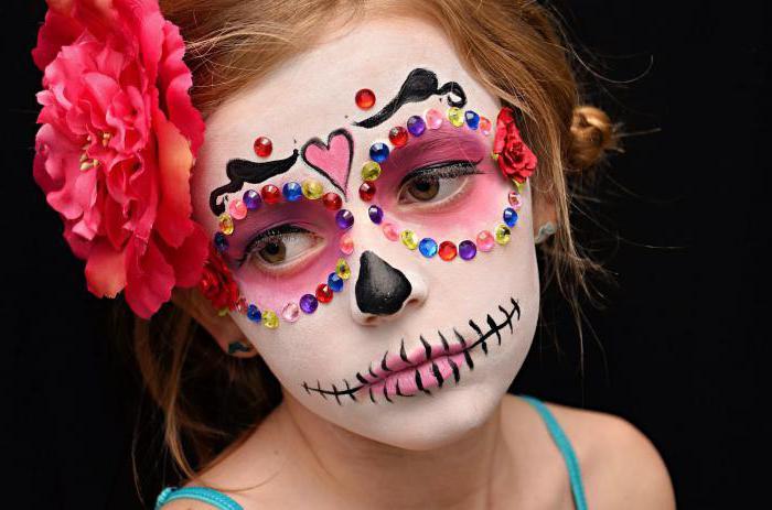 макияж на хэллоуин для детей
