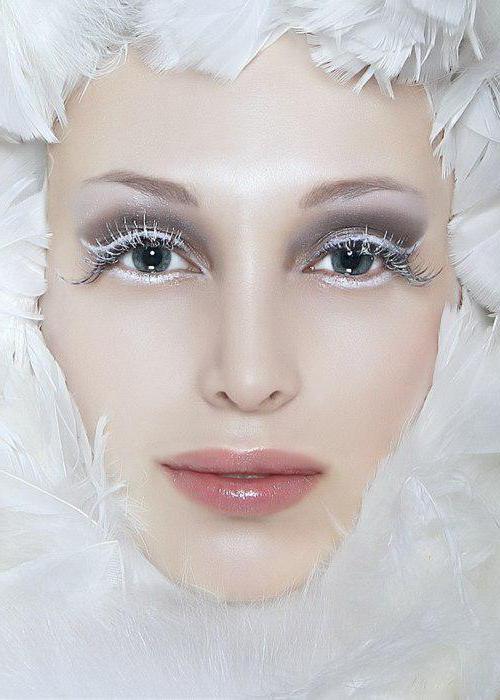 макияж на хэллоуин снежная королева