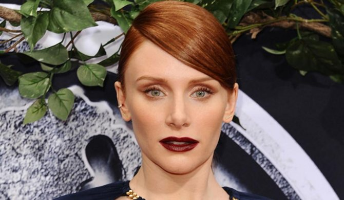 макияж с ярким тоном губ