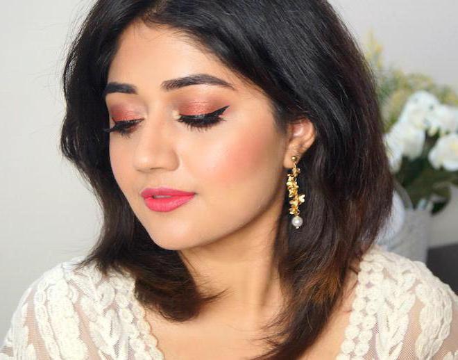 макияж в индийском стиле