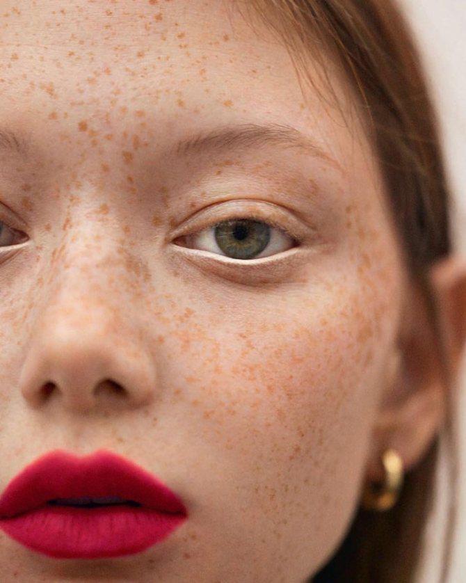 макияж веснушки