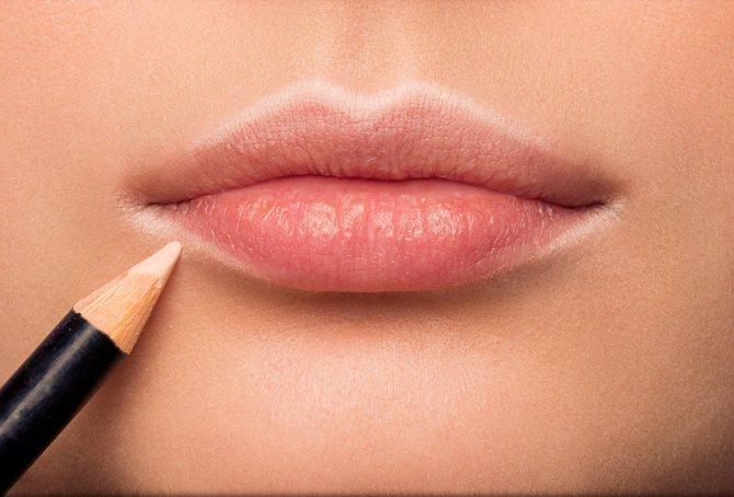 Макияжу для увеличения губ