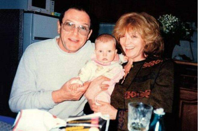 Максим Виторган в детстве с родителями