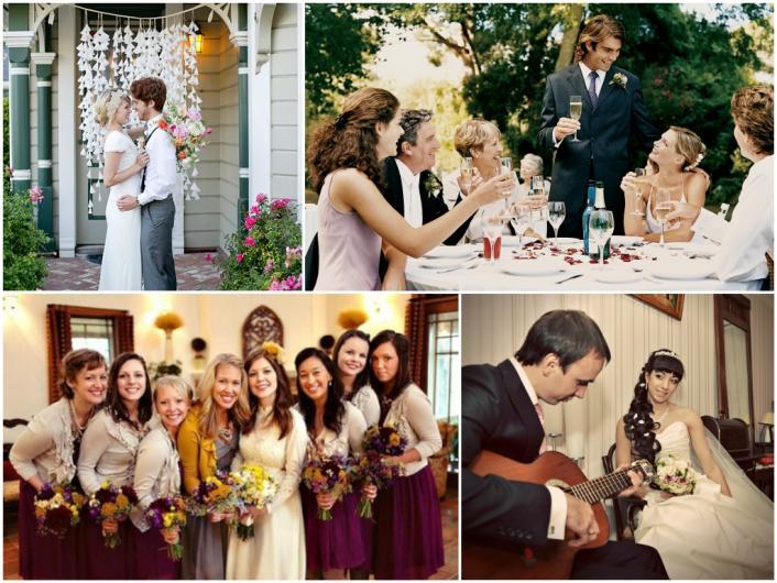маленькая свадьба дома