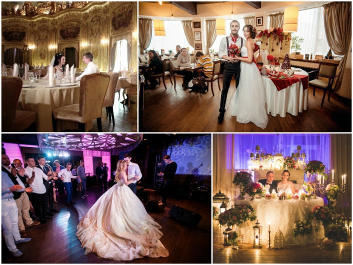 маленькая свадьба в ресторане