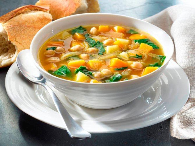 Маленькие клецки в супе