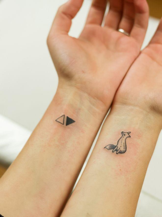 маленькие татуировки в стиле минимализм шесть
