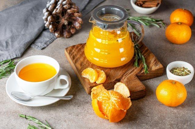 Мандариново-еловый чай
