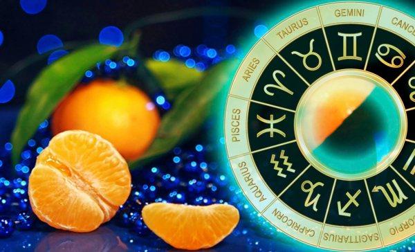мандарины, синие бусы, астрологический круг