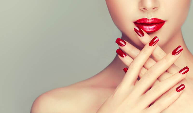 Маникюр на широкие ногти