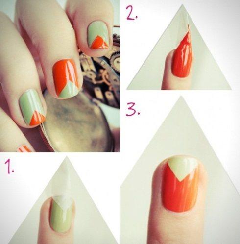 Маникюр с геометрическим рисунком. Фото на короткие, длинные ногти. Модные тенденции