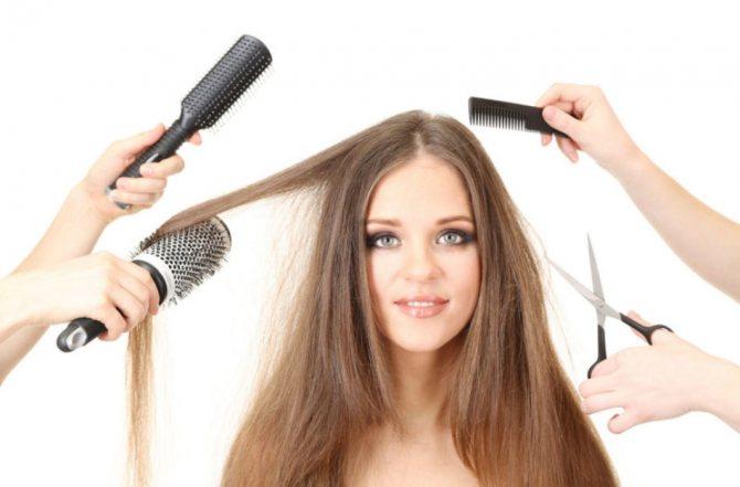 Манипуляции с волосами