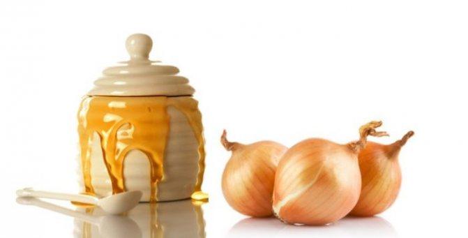 Маска с луком, медом, сметаной