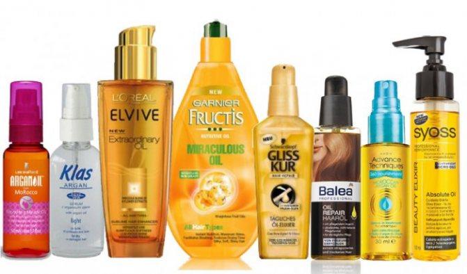 Масла и спреи для выравнивания волос