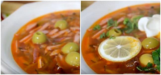 маслины и лимон в супе