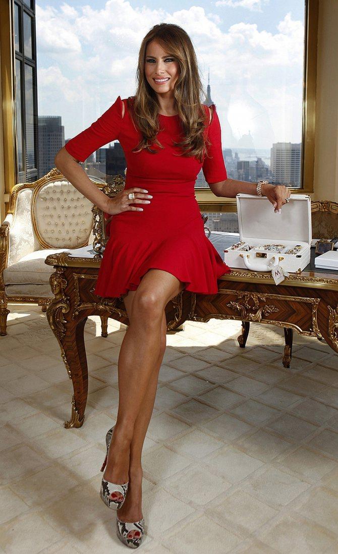 Мелания Трамп - автор собственной линии ювелирных украшений. Фото: EAST NEWS