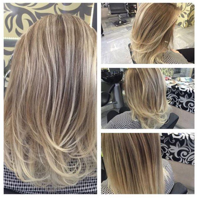 Мелирование на светлые волосы фото до и после