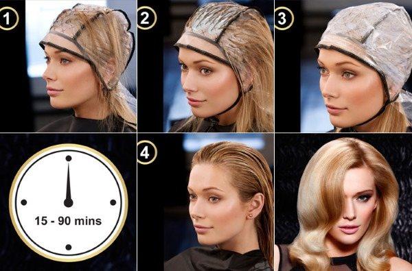 Мелирование на светлые волосы темными прядями: обратное, цветное, калифорнийское. Пошаговая инструкция с фото