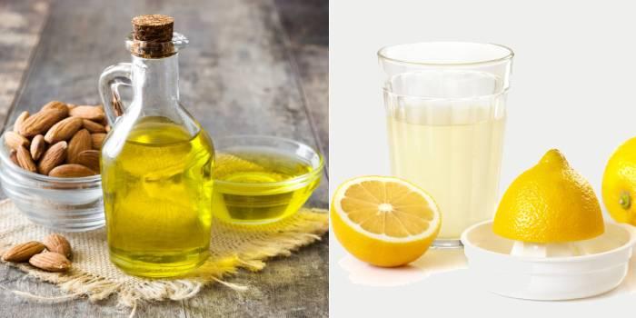 Миндальное масло и лимонный сок