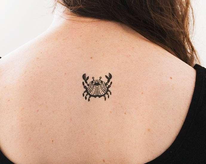 миниатюрное изображение рака на спине